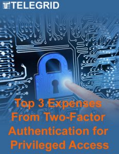 Top 3 Expenses From Two-Factor Authentication for Privileged Access